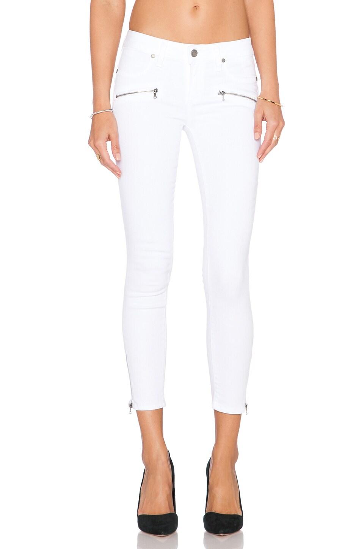 PAIGE Jane Zip Crop Skinny in Ultra White