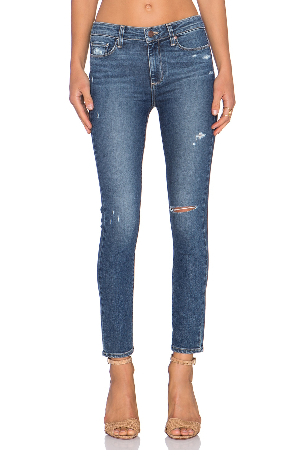 PAIGE Hoxton Ankle Skinny in Toren Destructed