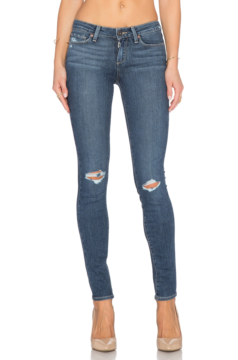 PAIGE Verdugo Ultra Skinny in Quinnley Destructed