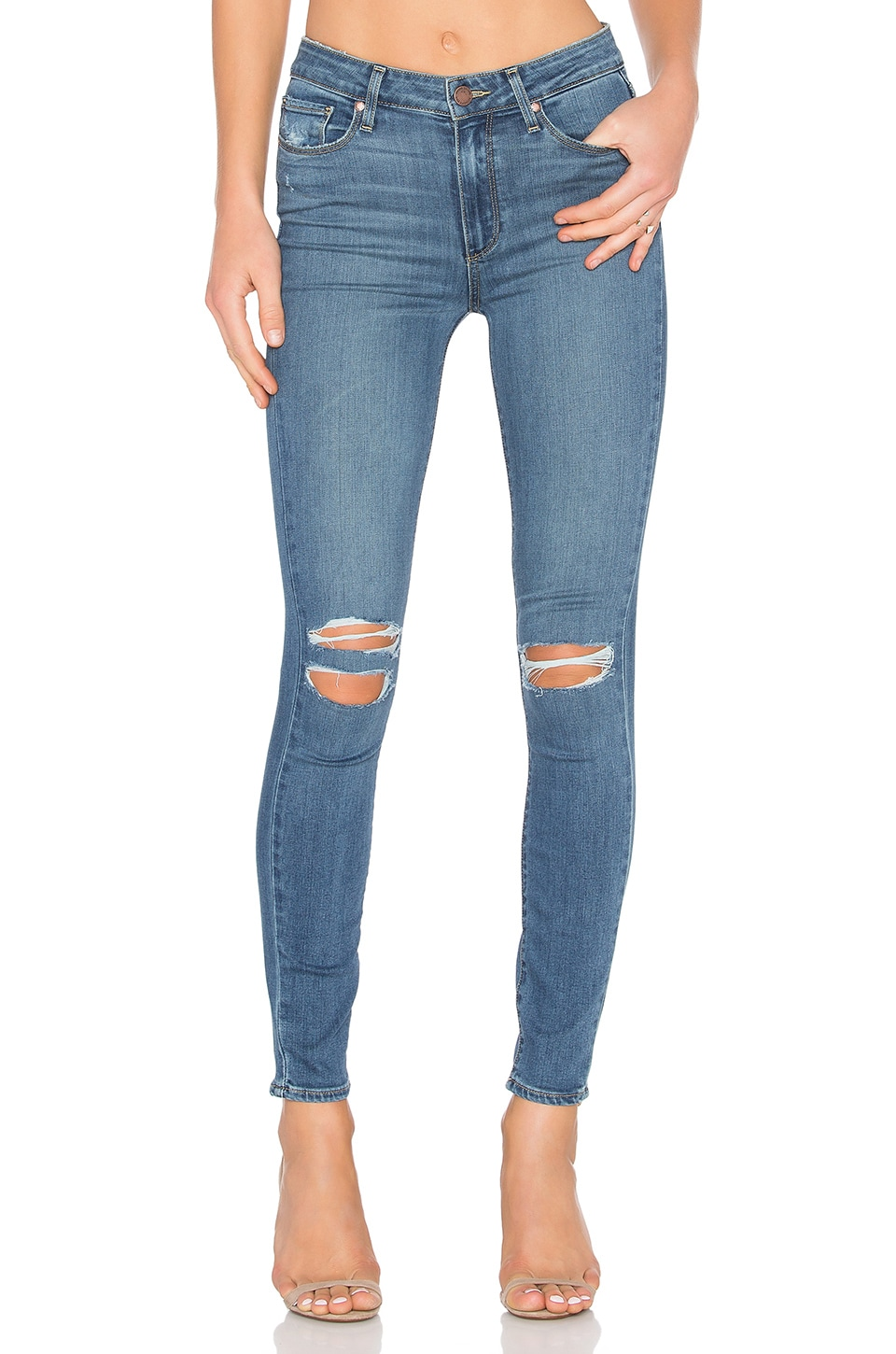 PAIGE Hoxton Ankle Skinny in Jayla Destructed