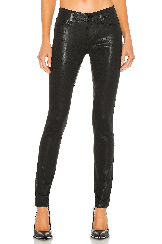 PAIGE Verdugo Ultra Skinny in Black Fog Luxe Coating