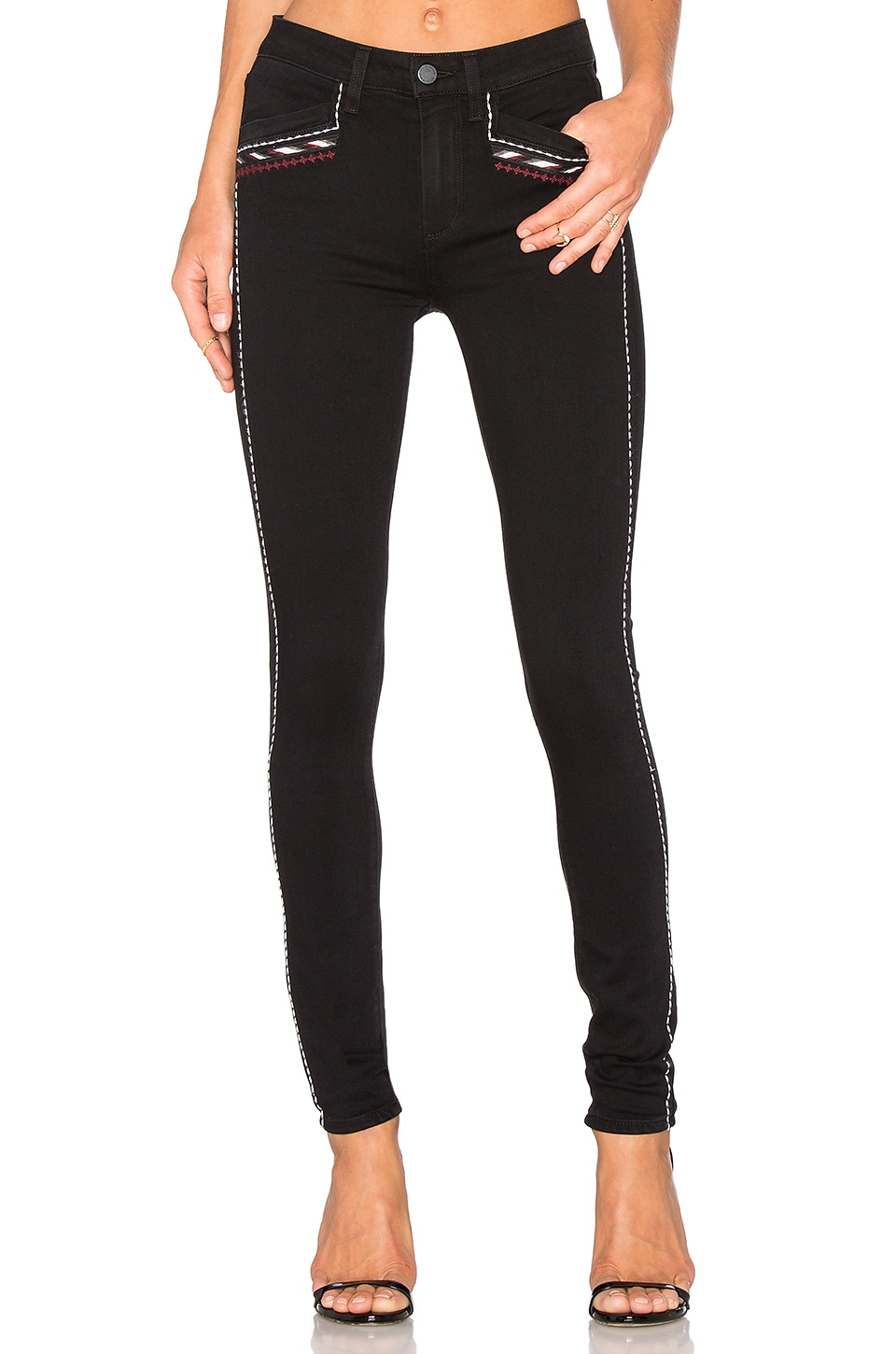 PAIGE Amberly Ultra Skinny in Noir Boleyn Embroidered