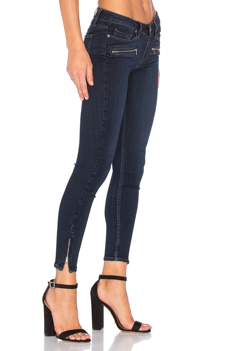 PAIGE Jane Zip Ultra Skinny in Dayton No Whiskers