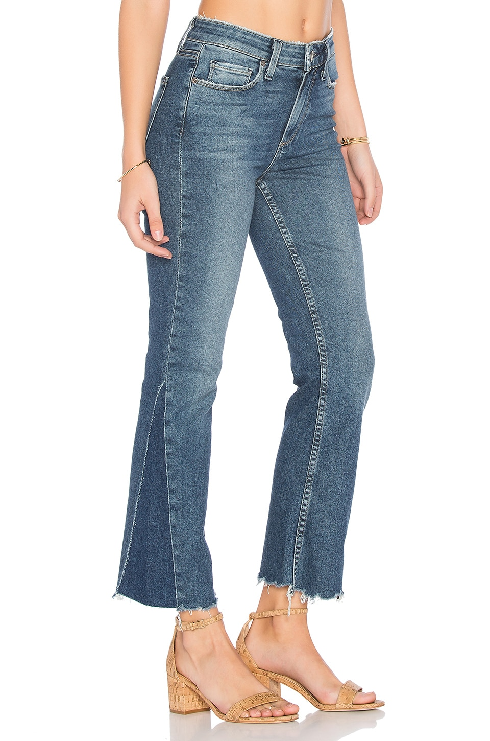 PAIGE Pieced Colette Crop Jean in Kenya Distressed