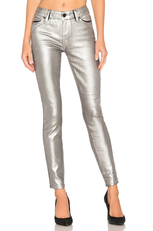 PAIGE Verdugo Ultra Skinny in Silver Galaxy Coating