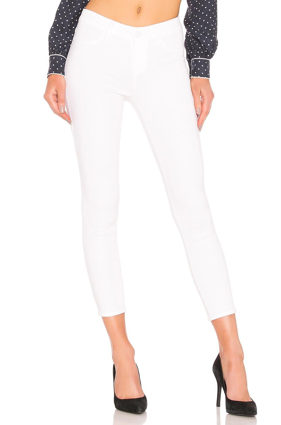 PAIGE Verdugo Crop in Vivid White