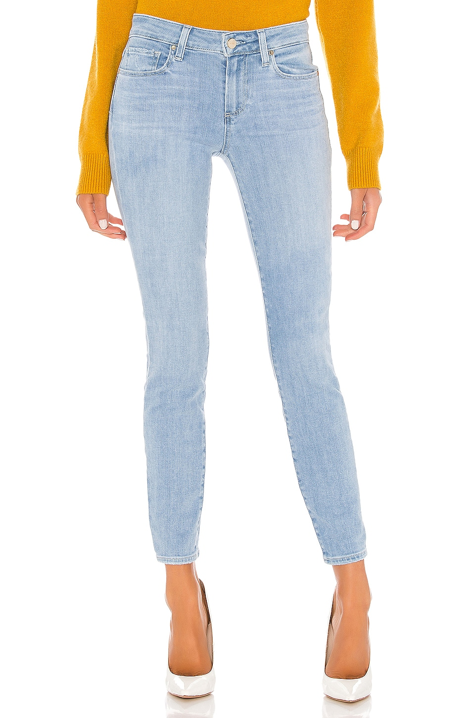 PAIGE Verdugo Ankle in Icicle Distressed Hem