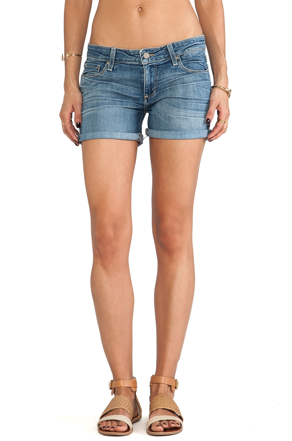 Paige Denim Jimmy Jimmy Short in Tigerlily