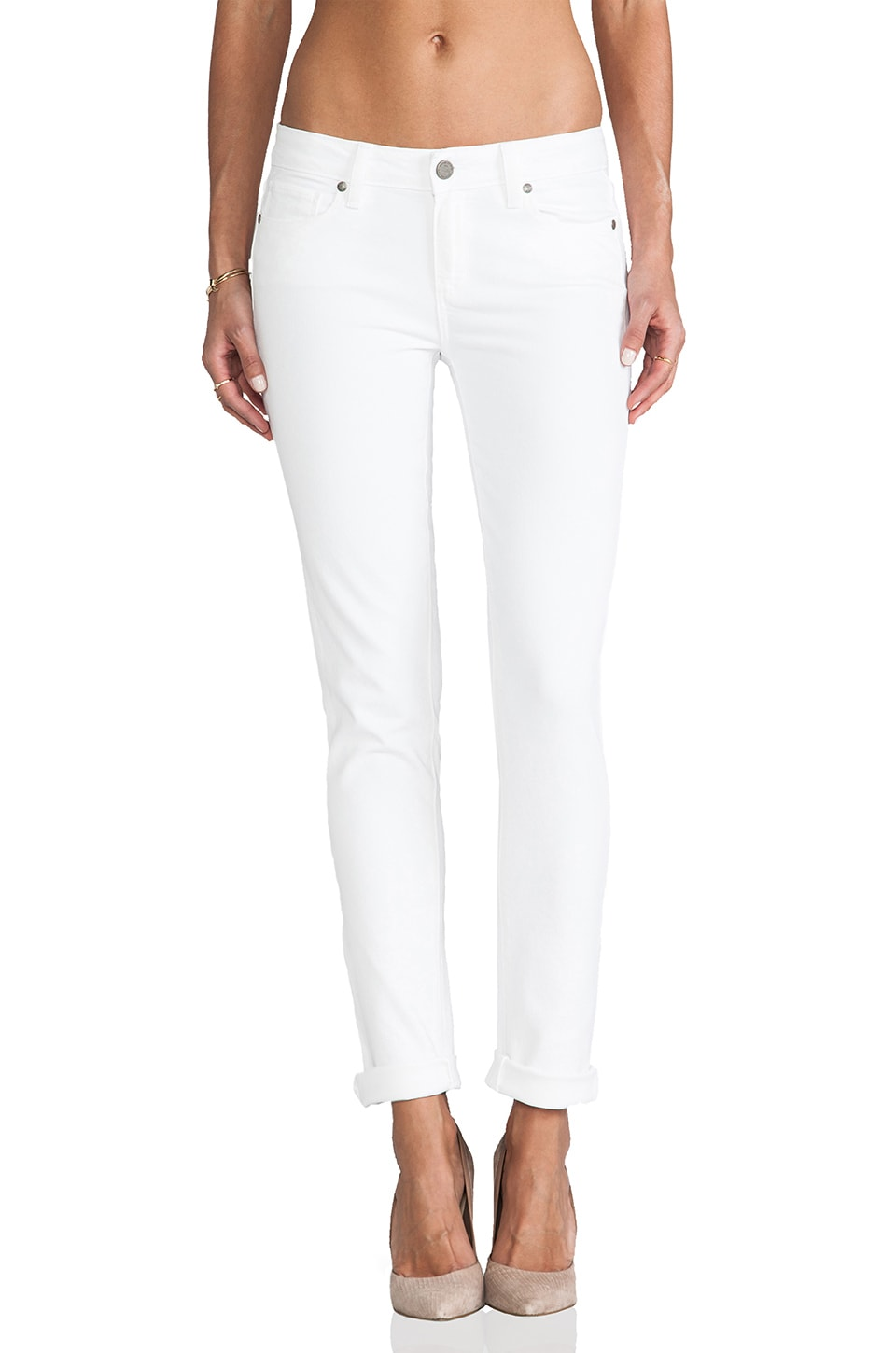 PAIGE Denim Skyline Skinny in Optic White