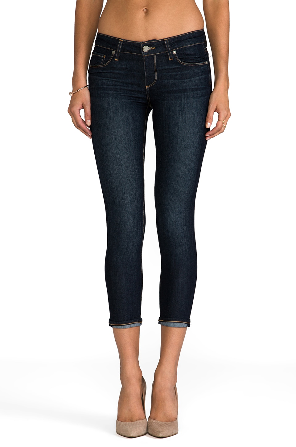 PAIGE Denim Kylie Crop in Stream