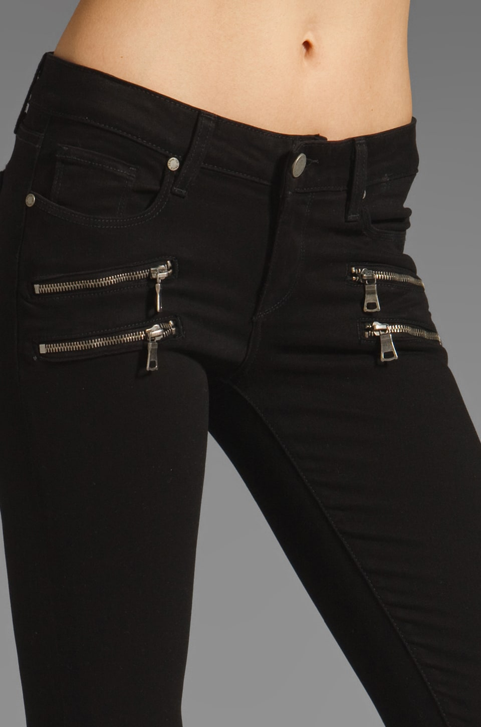 Paige Denim Edgemont Skinny in Black