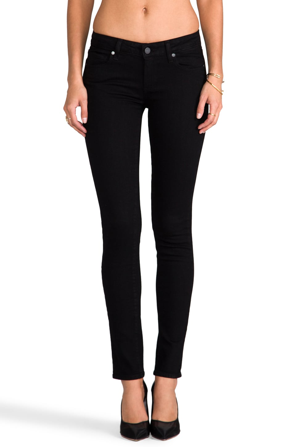Paige Denim Skyline Skinny in Black Ink
