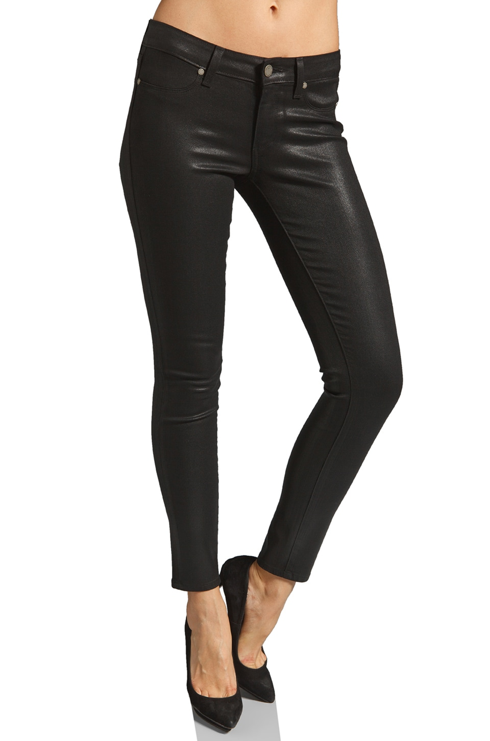 Paige Denim Verdugo Skinny in Black Silk
