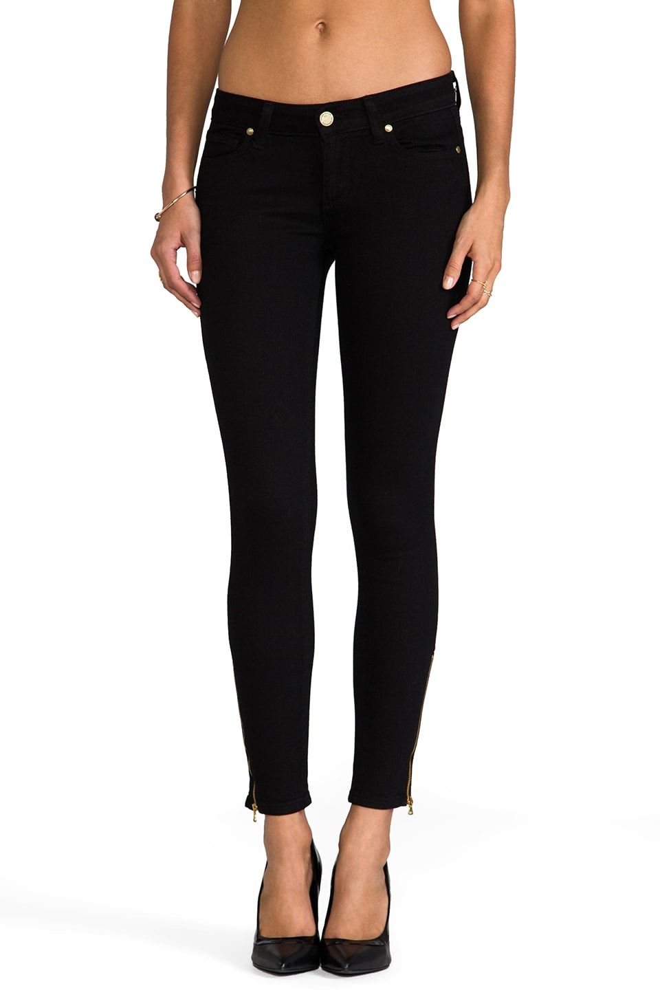 Paige Denim Verdugo Ankle Zip in Black