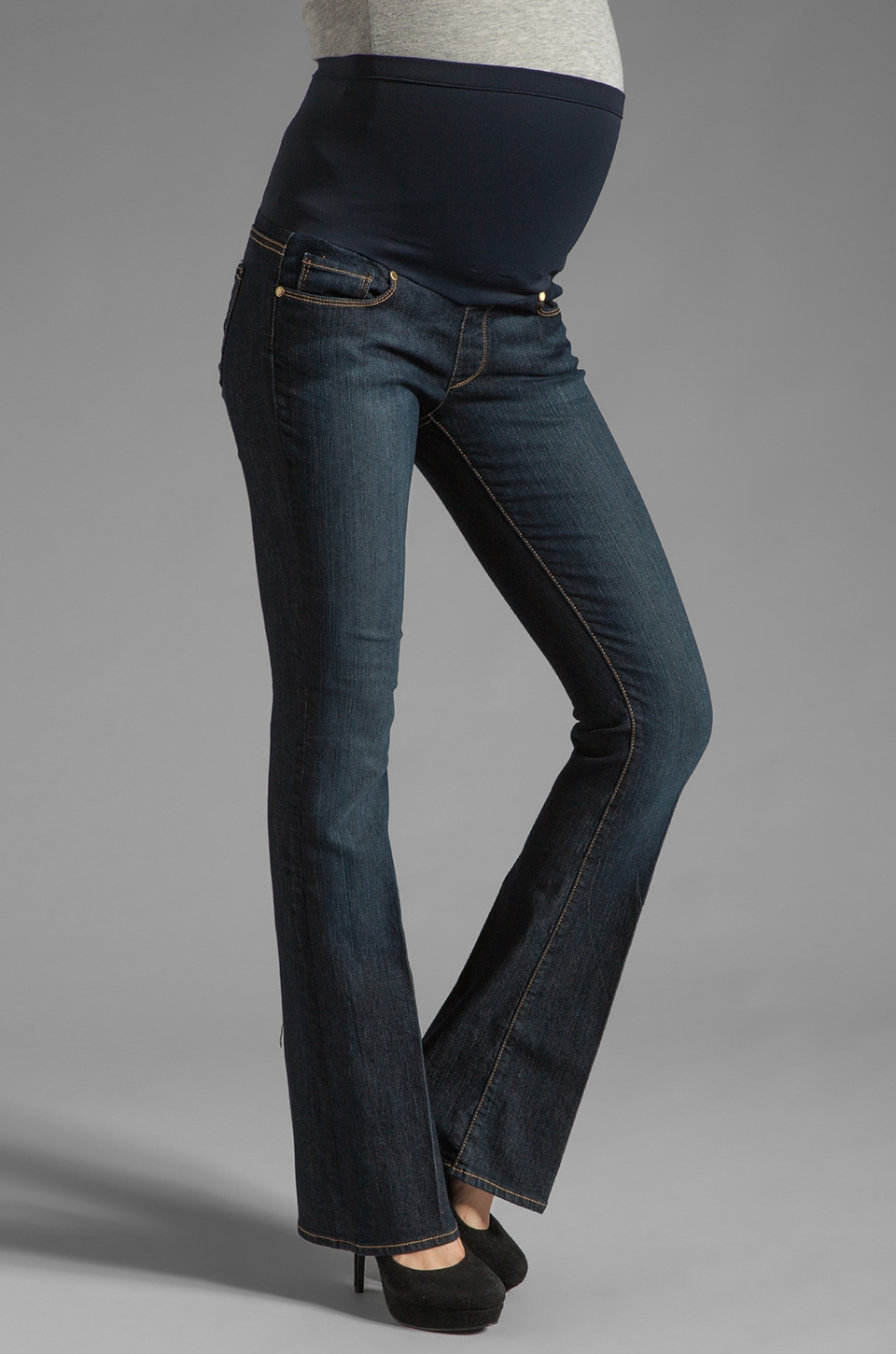 Paige Denim Maternity Skyline Boot with New Panel in Carson