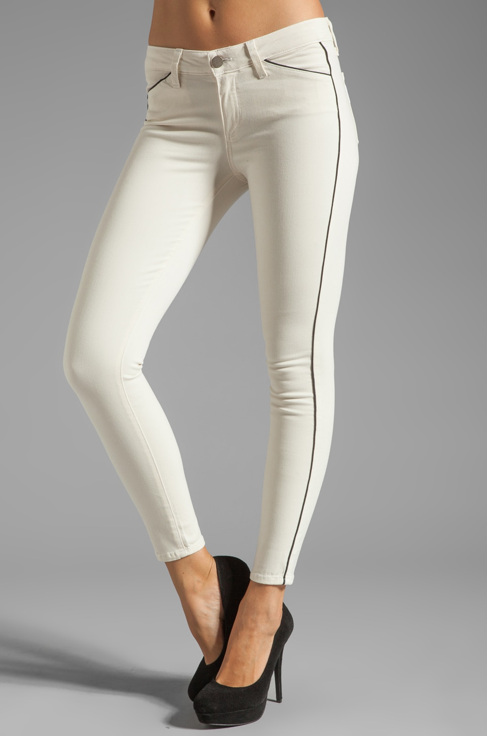 PAIGE Denim Pipeline Ultra Skinny in Cream/Black