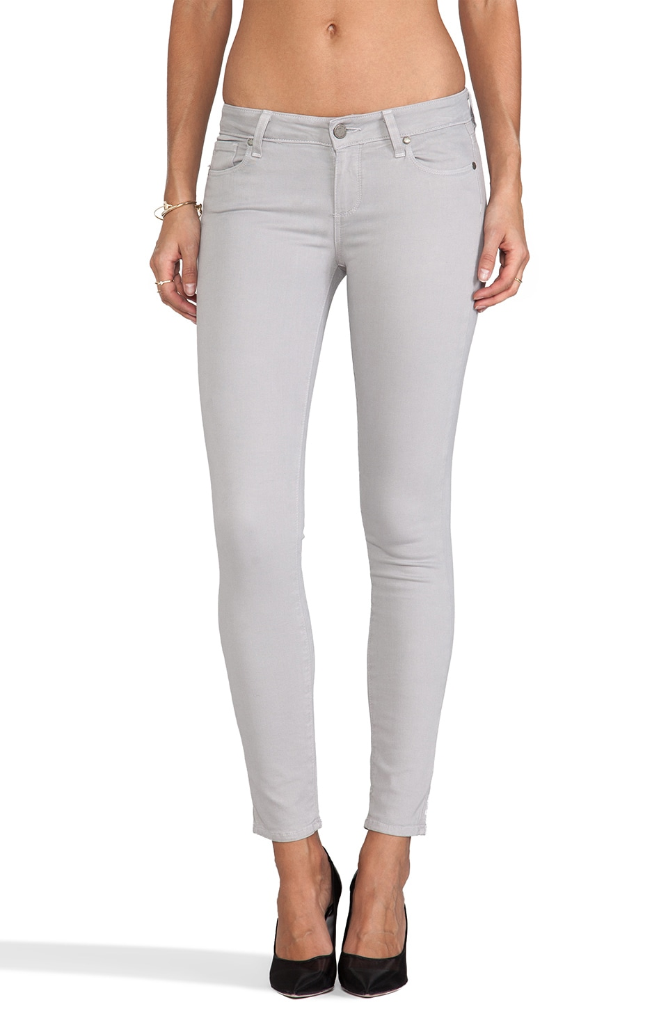 Paige Denim Verdugo Ankle in Metal