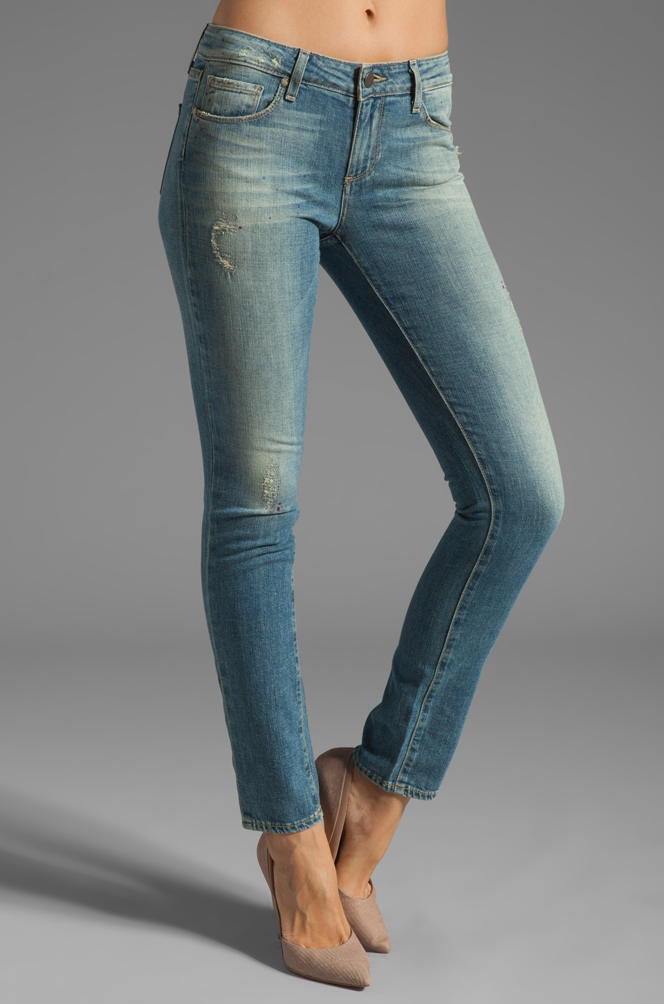 Paige Denim Skyline Ankle Peg in Monet