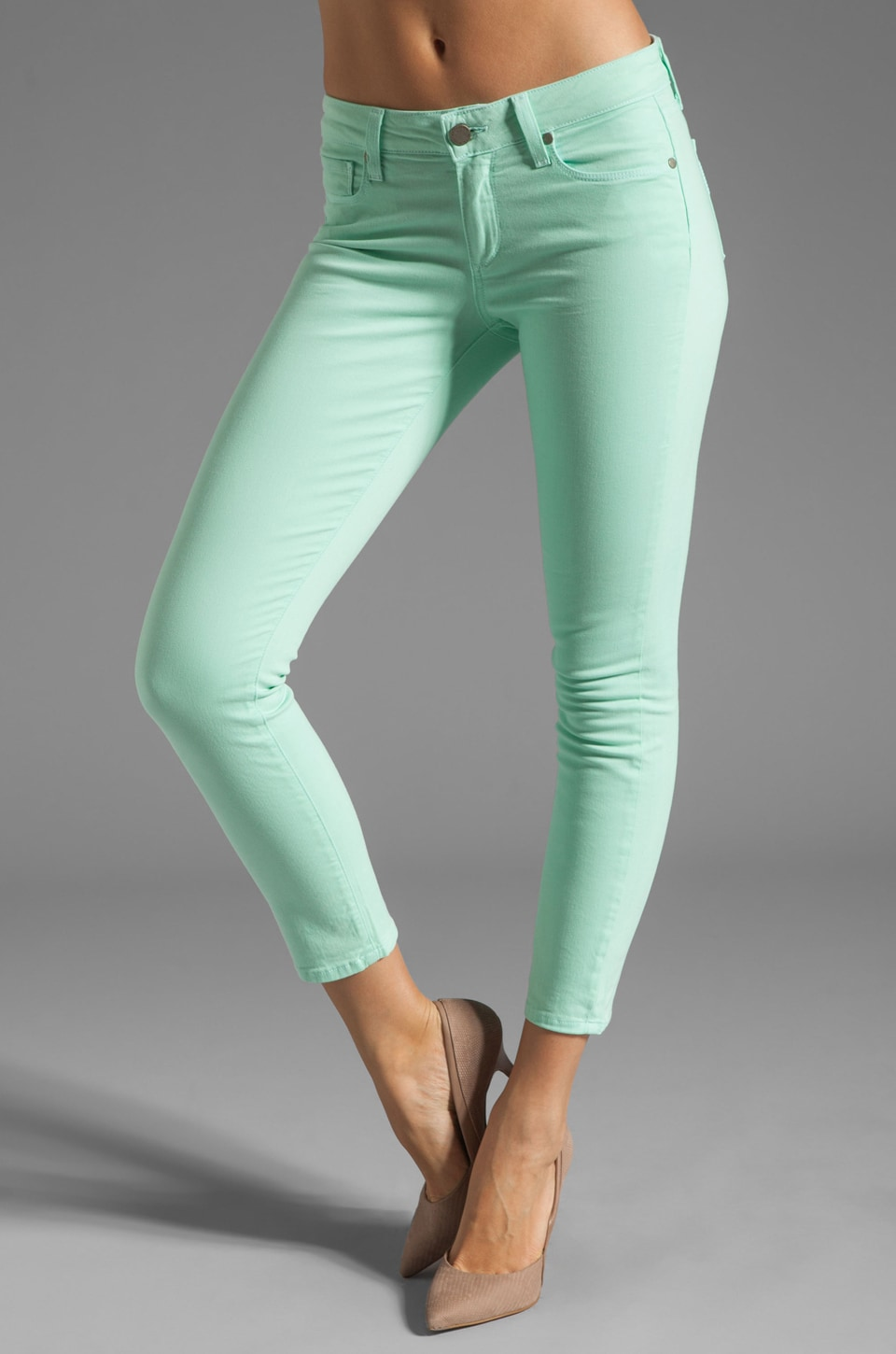 PAIGE Denim Kylie Crop in Glass