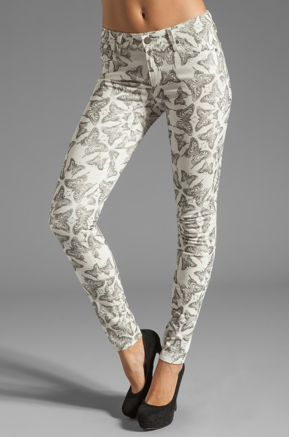 PAIGE Denim Verdugo Ultra Skinny in White/Black