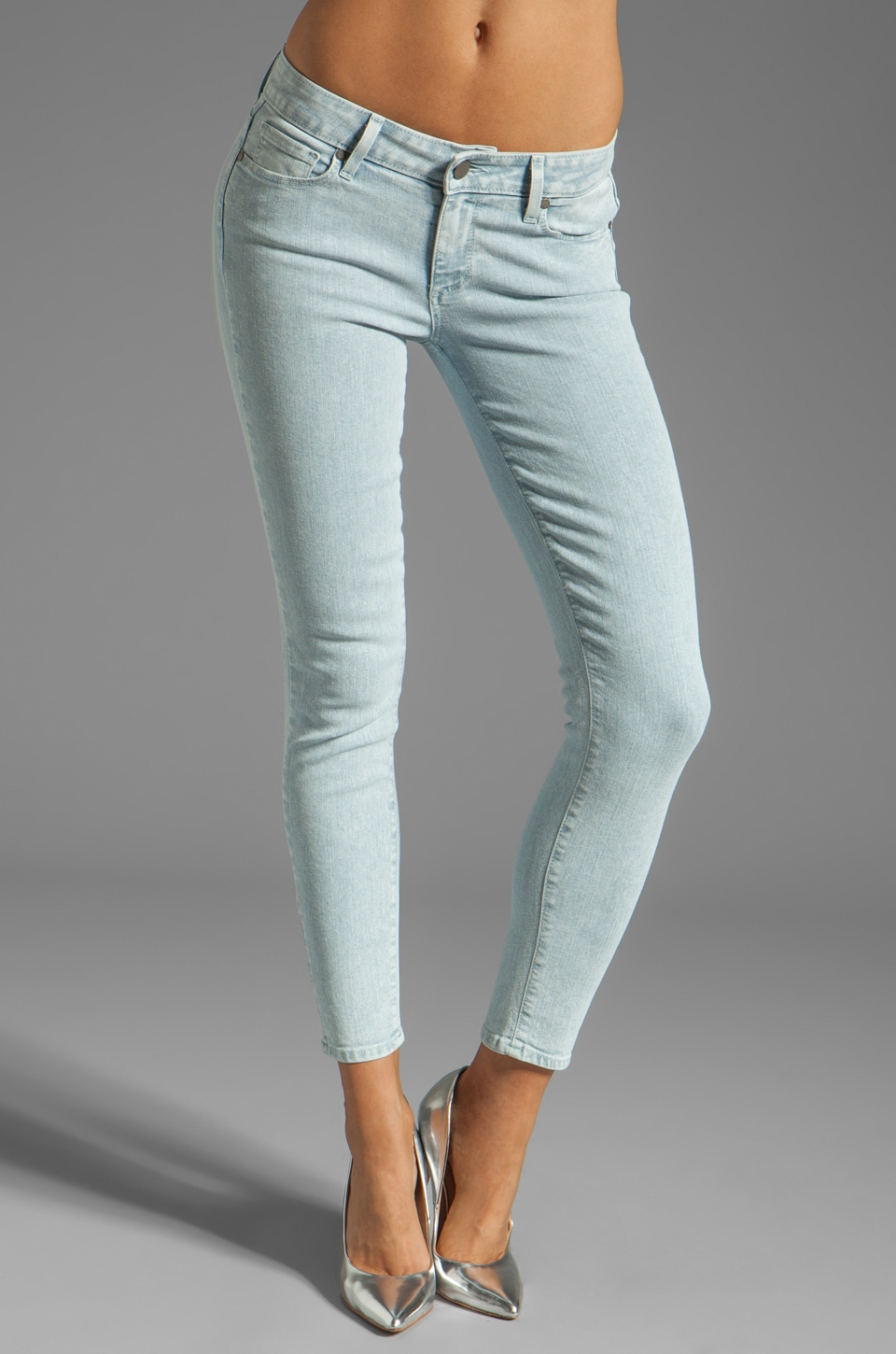 PAIGE Denim Verdugo Ankle Skinny in White Crystalline