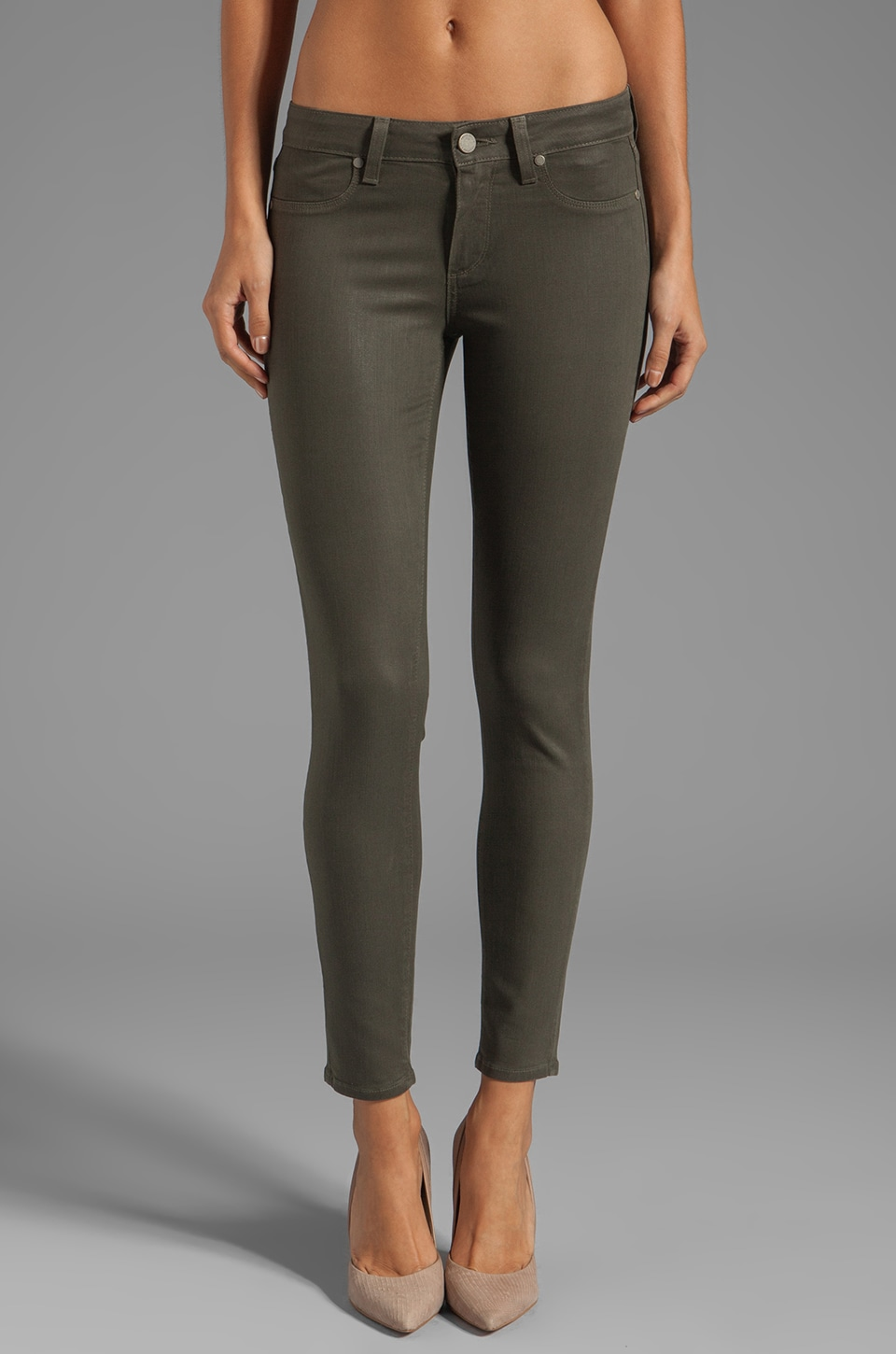 PAIGE Denim Verdugo Skinny Ankle in Tea Leaf