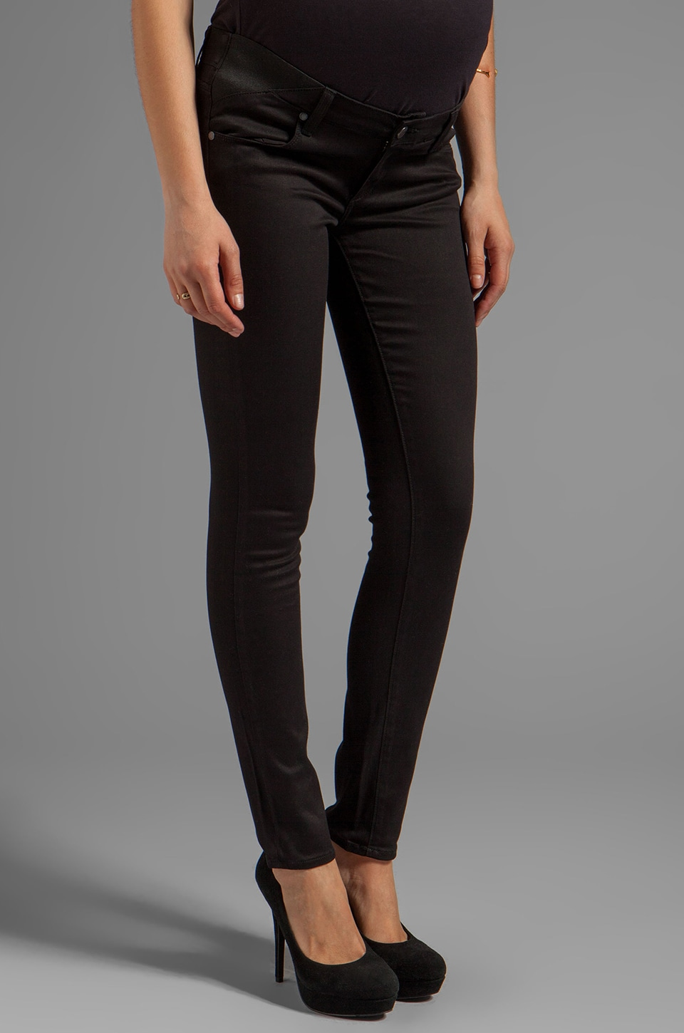 Paige Denim Maternity Verdugo Ultra Skinny in Black