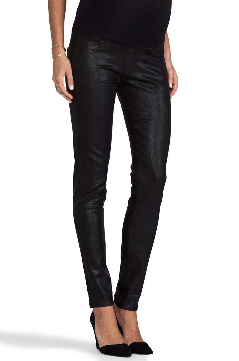 Paige Denim Maternity Verdugo W/ New Panel in Black Coated