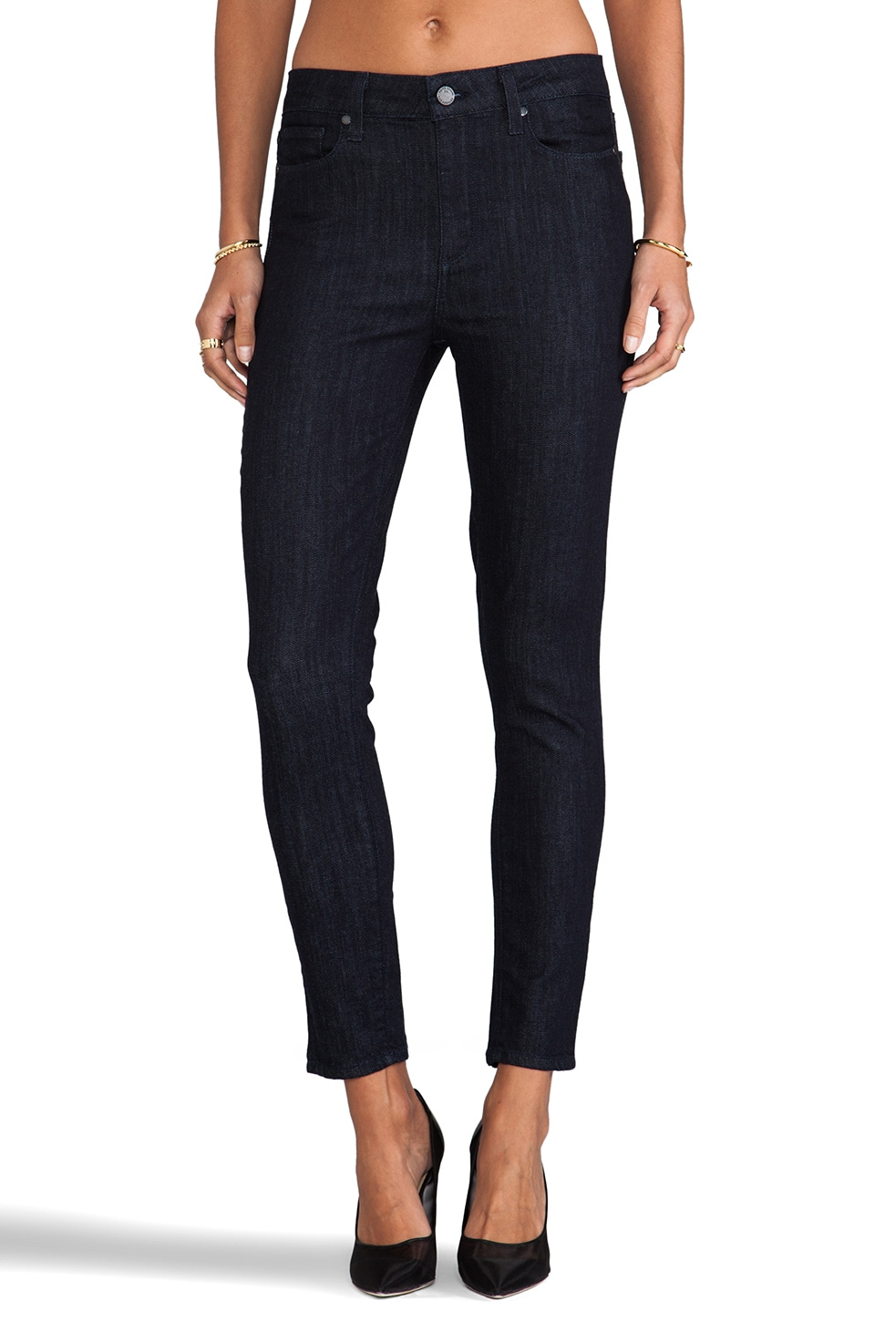 PAIGE Denim Hoxton Ankle Peg in Shelby