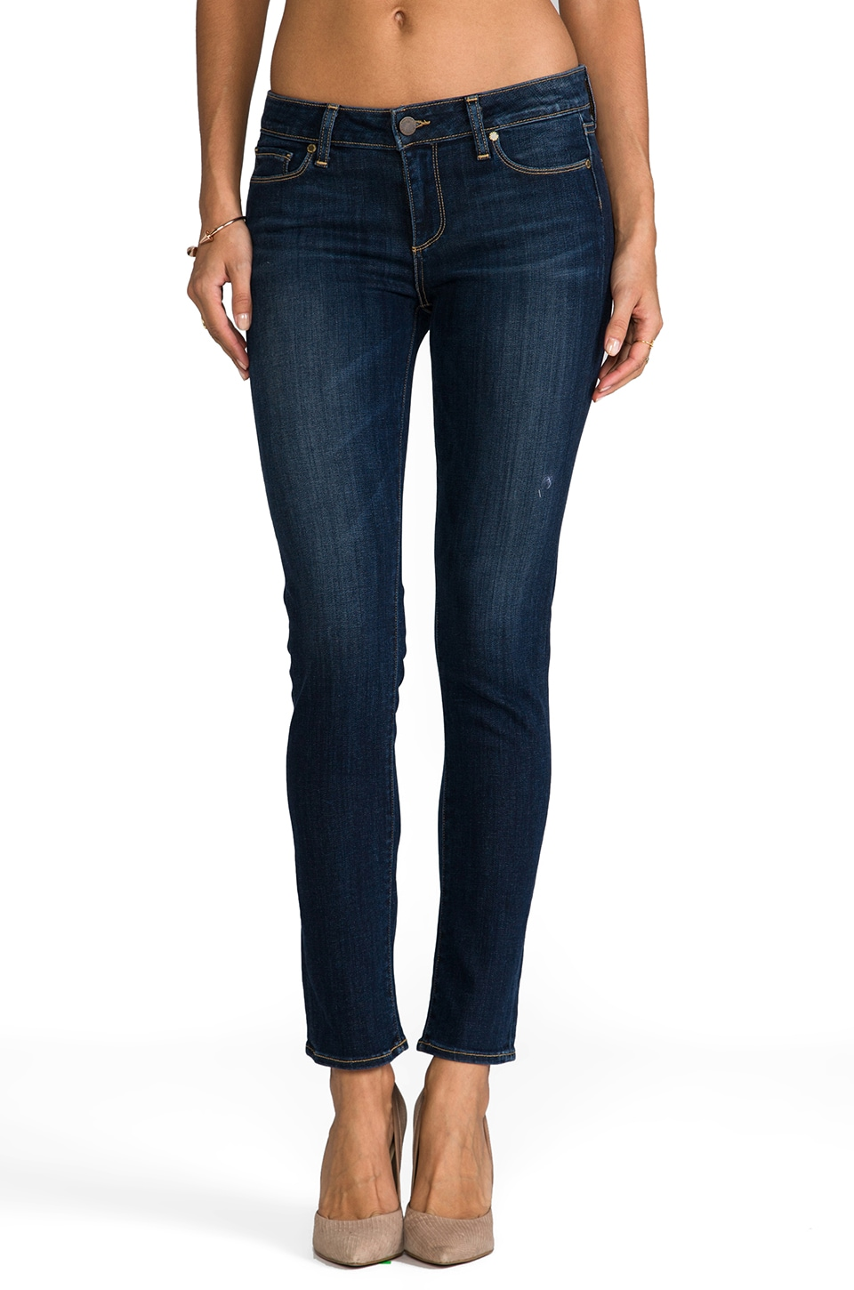 PAIGE Denim Skyline Ankle Peg in Galileo