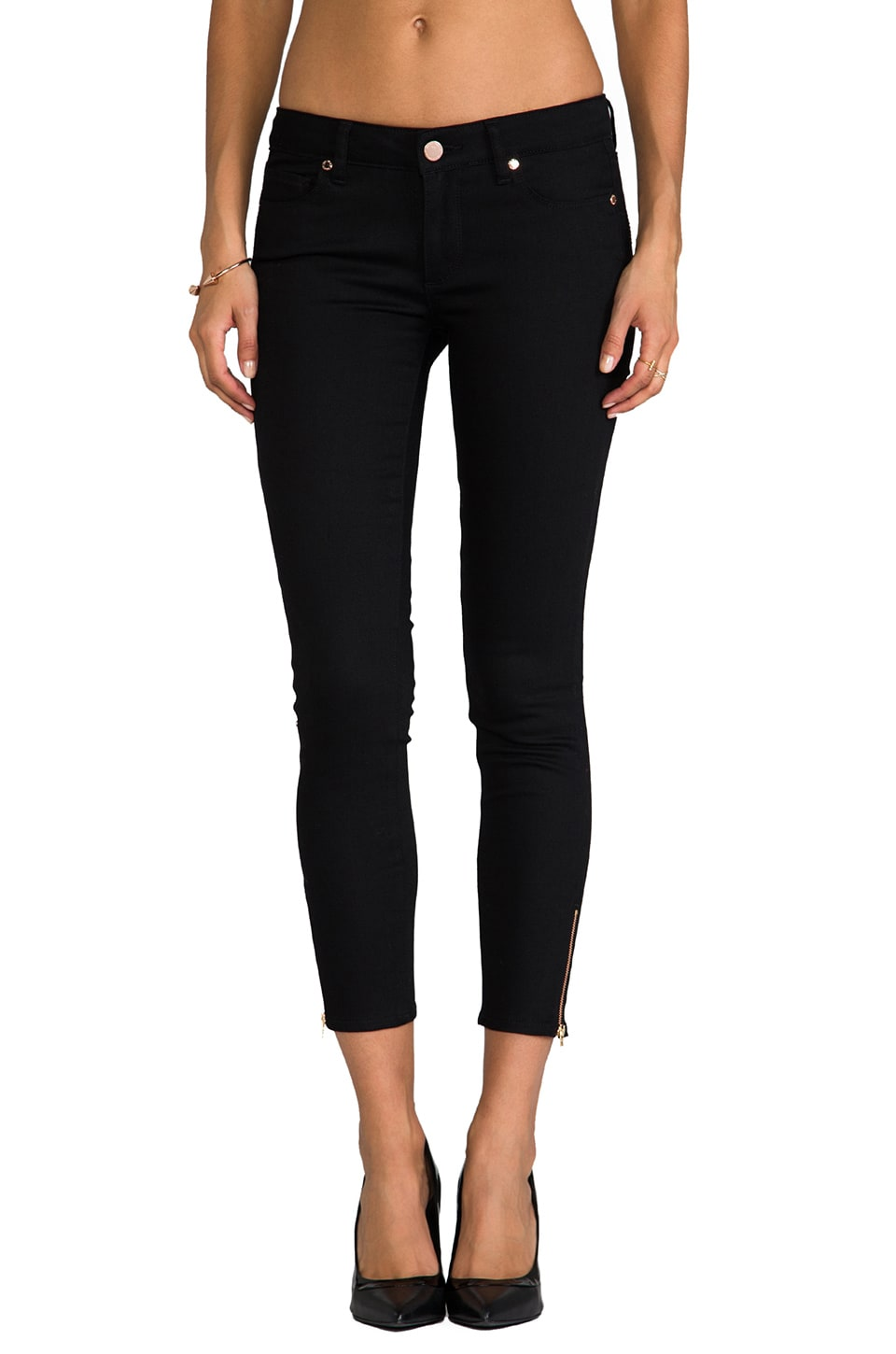 Paige Denim x REVOLVE Verdugo Ankle Zip in Steel Grey