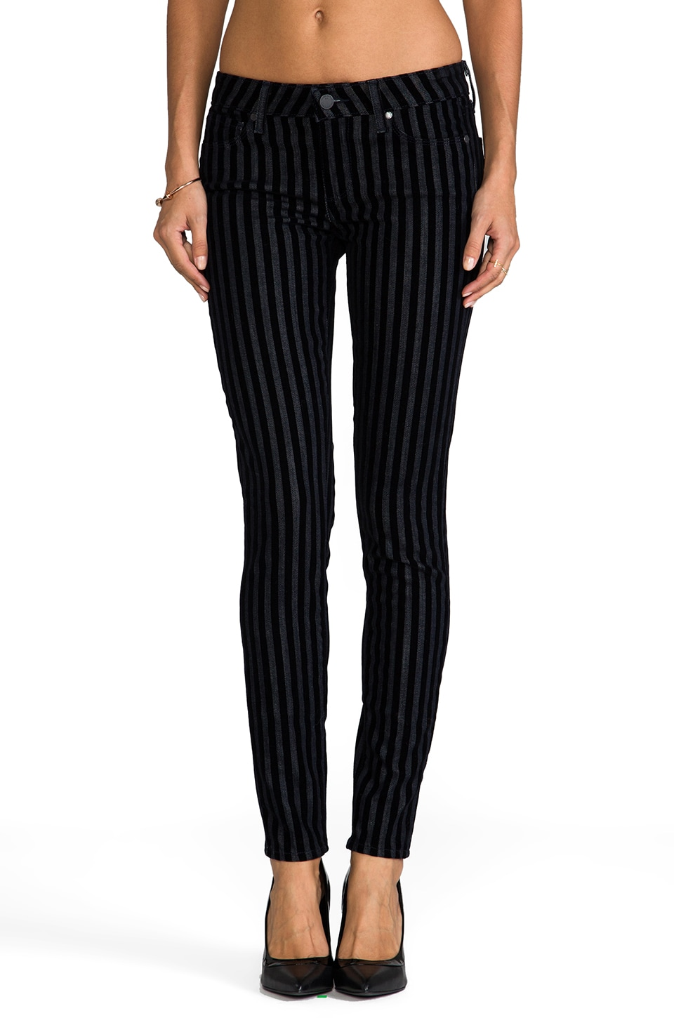 Paige Denim Verdugo Ultra Skinny in Flocked Stripe