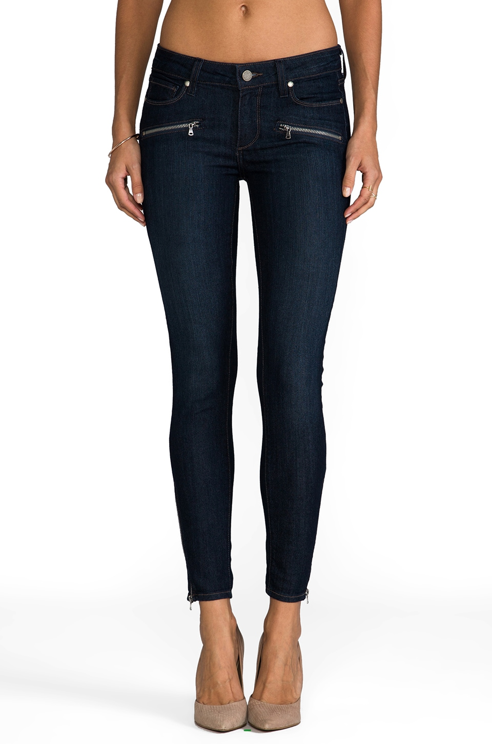 PAIGE Denim Jane Zip Ultra Skinny in Cheyenne