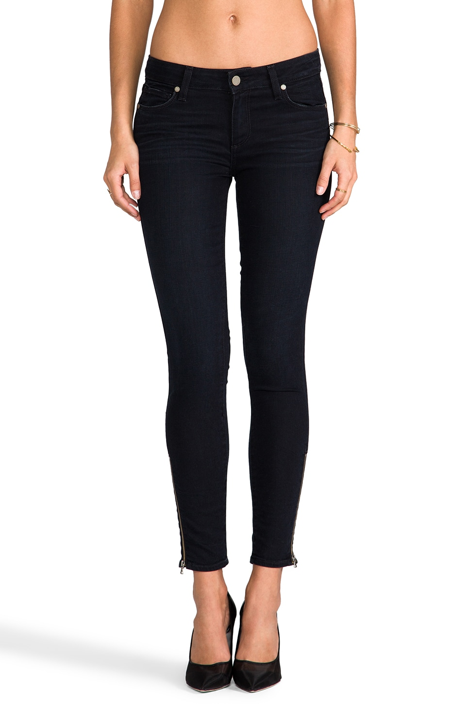 PAIGE Denim Verdugo Ankle Zip in Supernova
