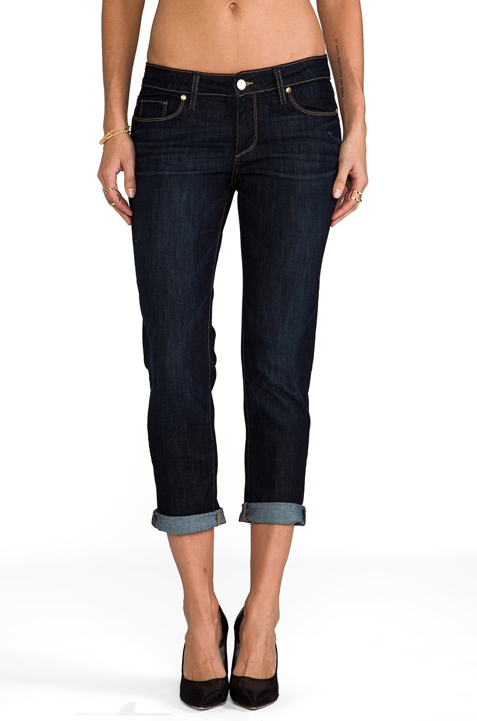 Paige Denim Skyline Ankle Peg in Dean