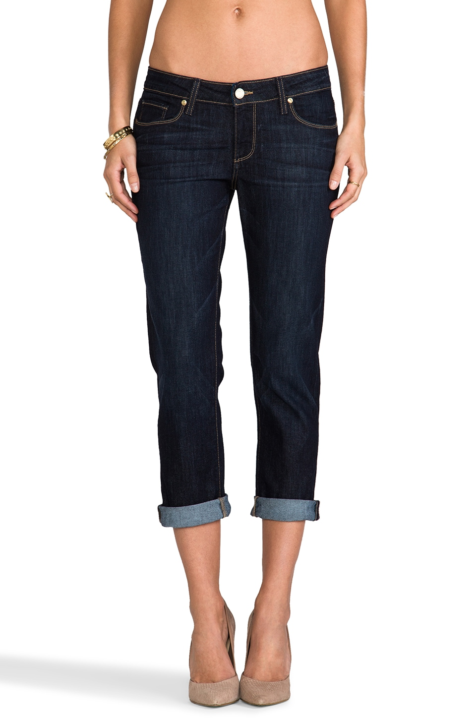 Paige Denim Jimmy Jimmy Crop in Dean