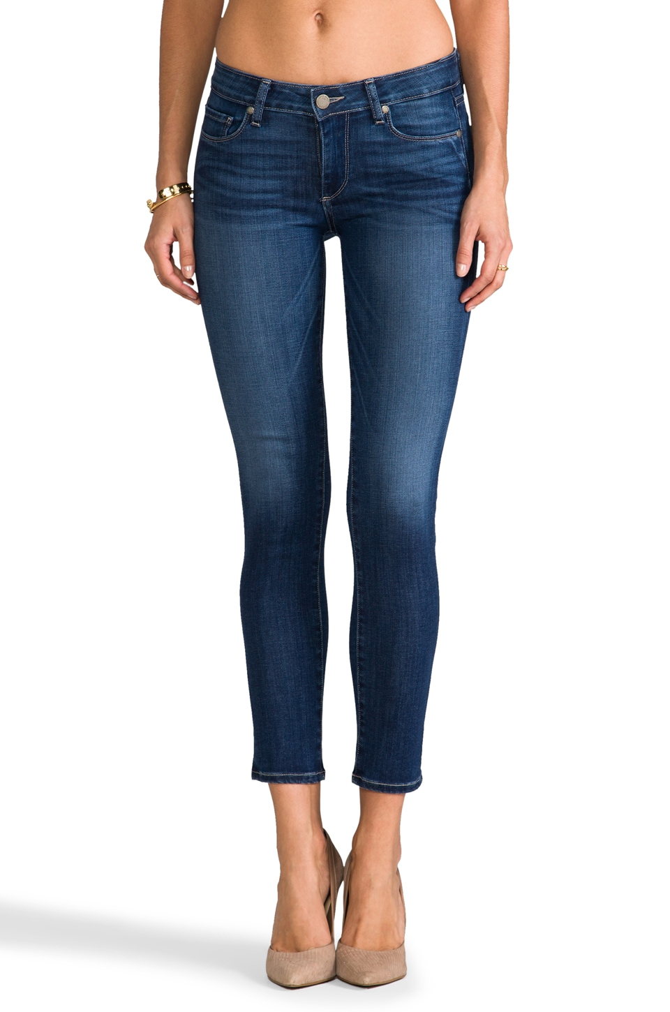 Paige Denim Skyline Ankle Peg in Reseda