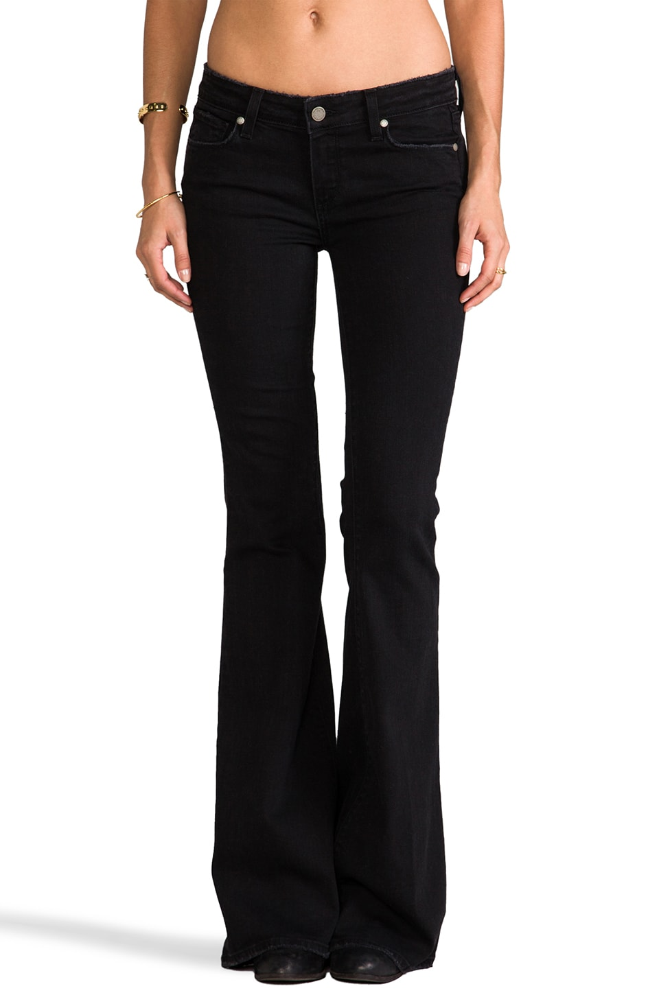 Paige Denim Fiona Flare in Vintage Black