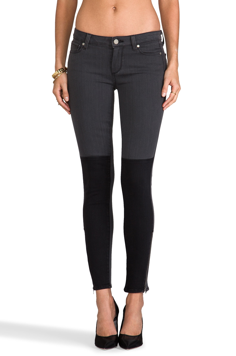 PAIGE Denim Cara Zip Ultra Skinny