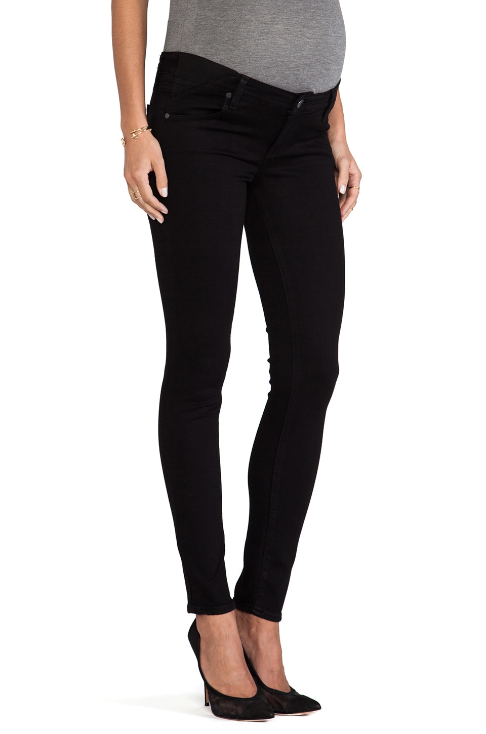 PAIGE Denim Verdugo Ultra Skinny Maternity in Black