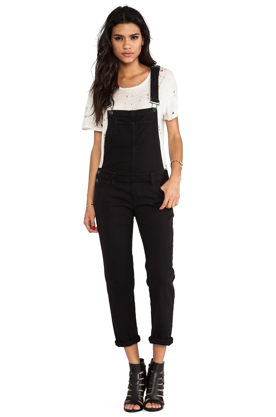 Paige Denim Sierra Overall in Vintage Black