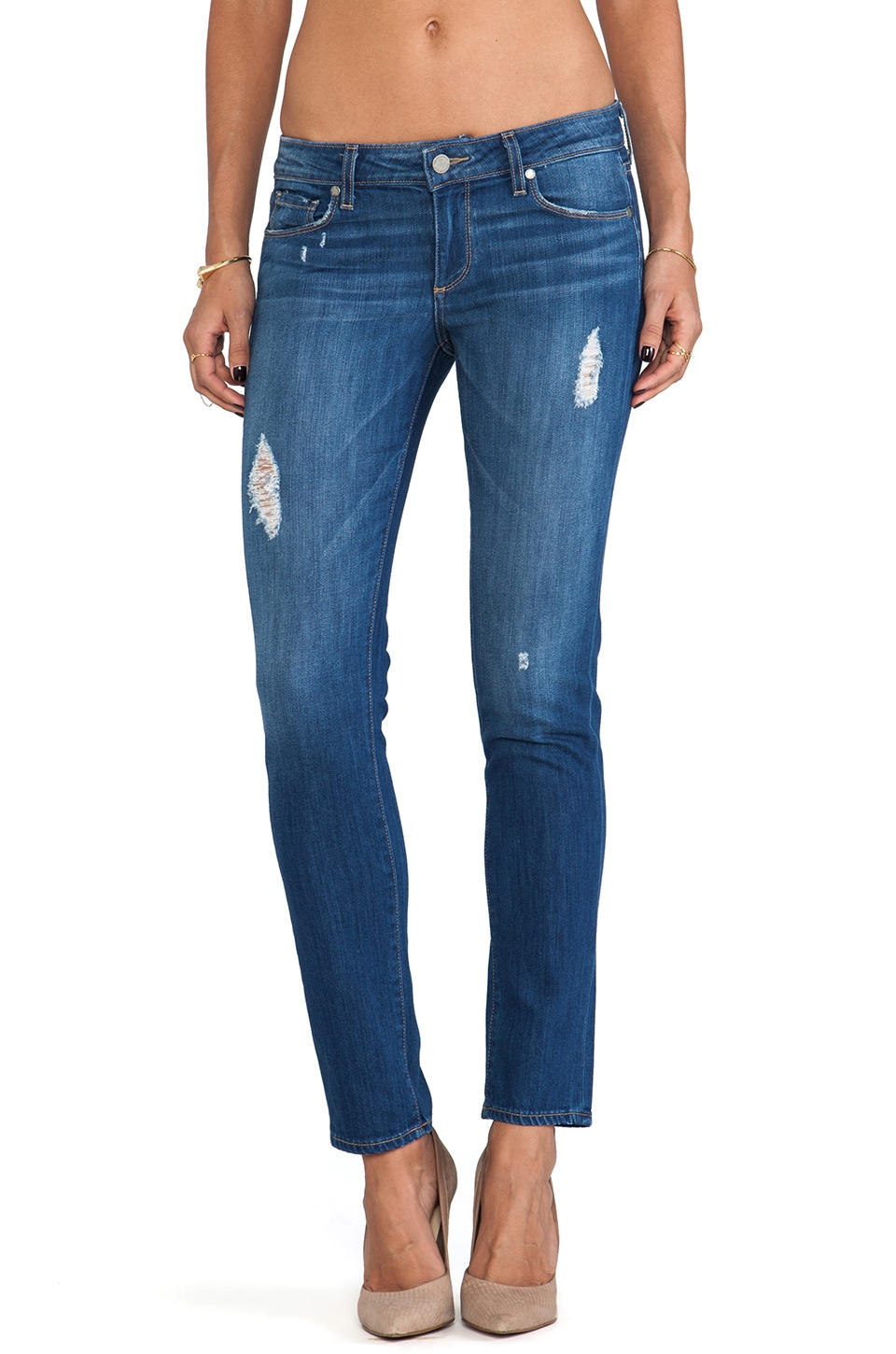 Paige Denim Skyline Ankle Peg in Albany