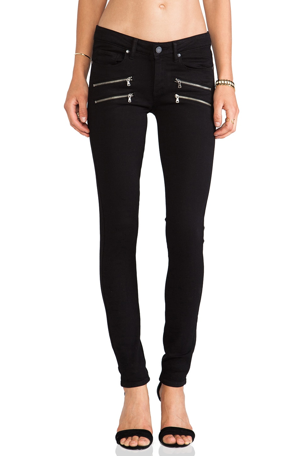 PAIGE Denim Edgemont in Black Shadow