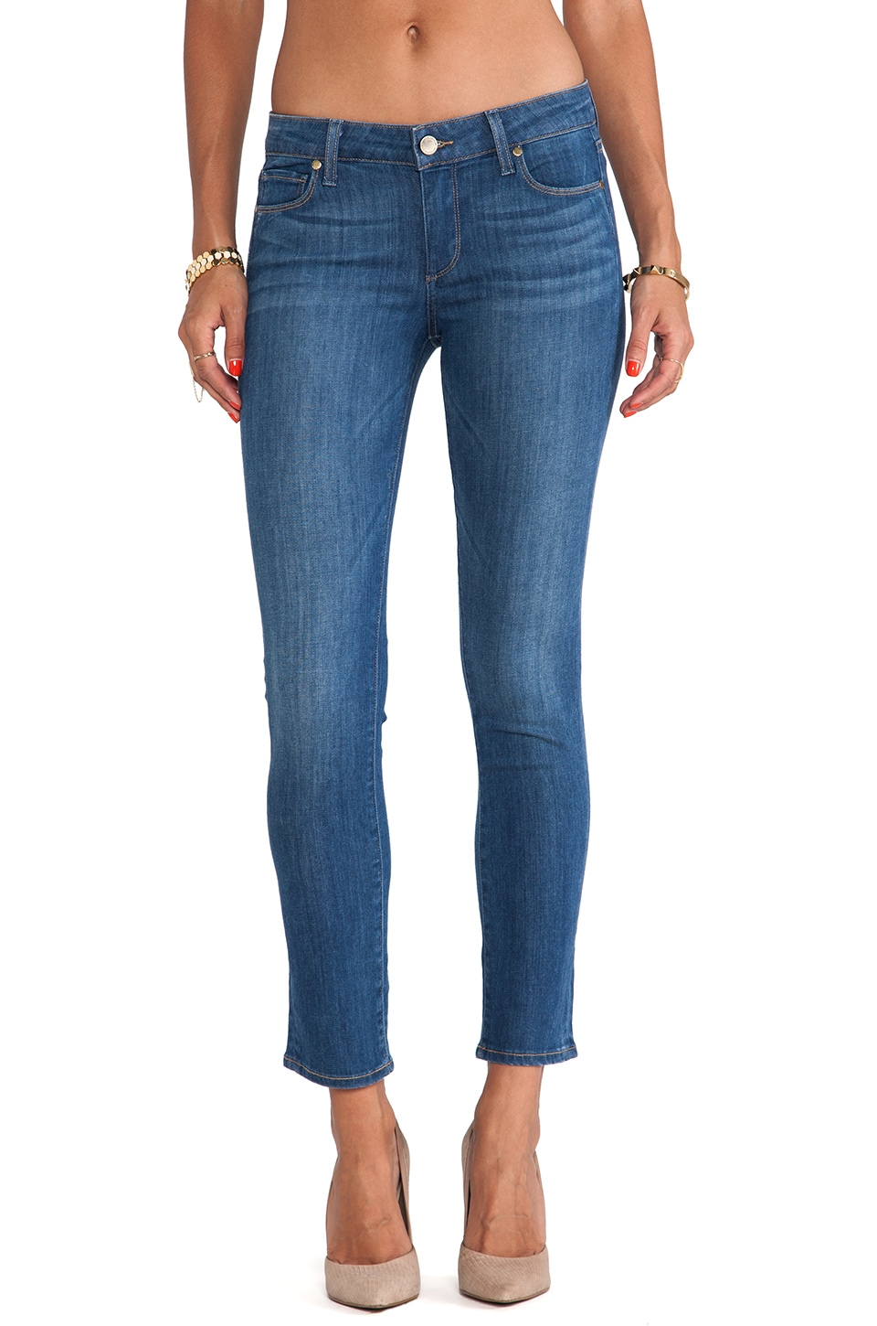 Paige Denim Skyline Ankle Peg in Festival