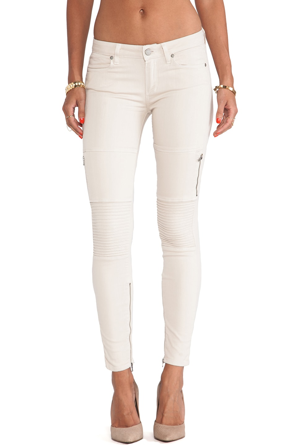 Paige Denim Demi Ultra Skinny in Shell