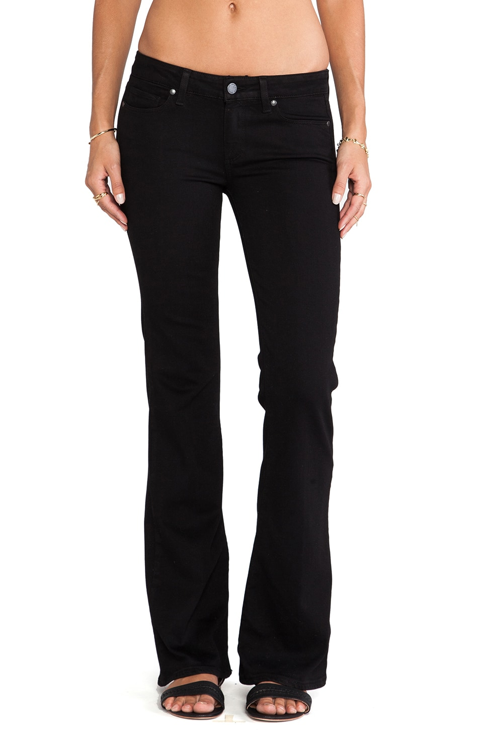 Paige Denim Skyline Boot in Black Shadow