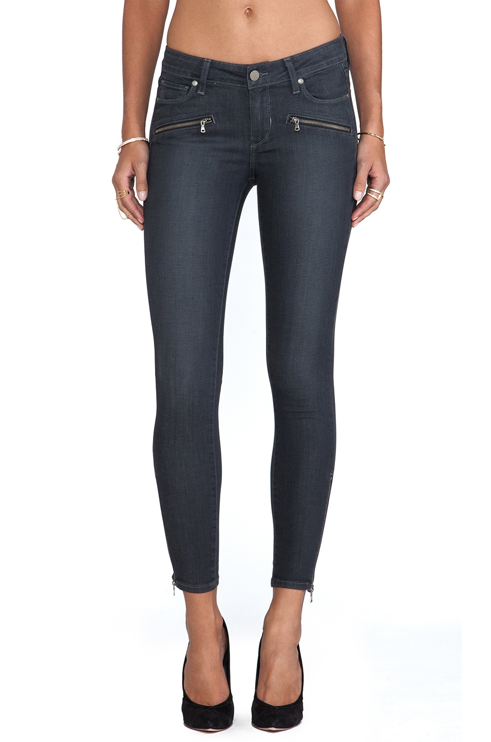PAIGE Denim Jane Zip Ultra Skinny in Evie