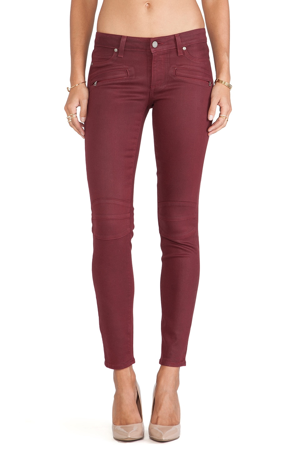 PAIGE Denim Ollie Skinny with Faux Pockets in Shiraz Silk