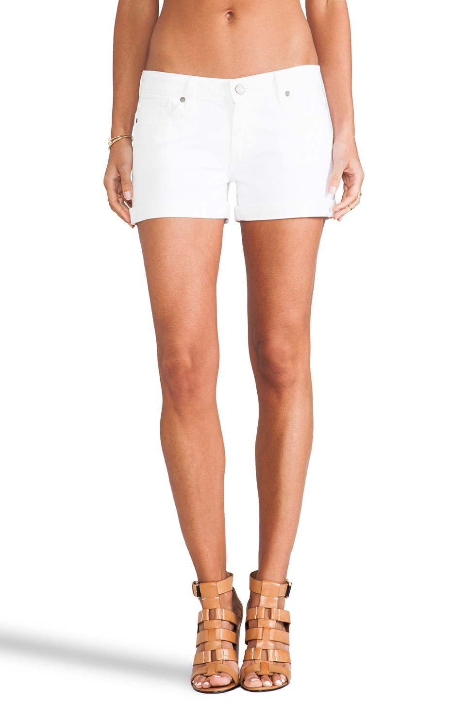 Paige Denim Jimmy Jimmy Short in White