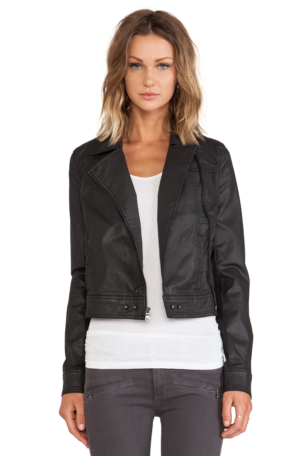 Paige Denim Brooklyn Jacket in Rebel Black